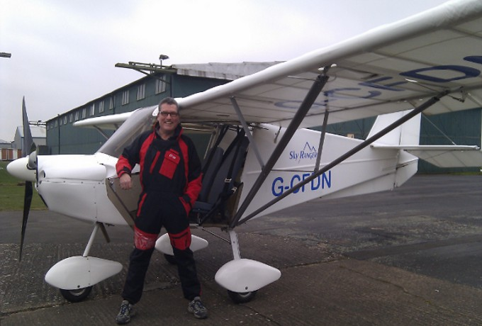 Photo of flying instructor Andy Richards.